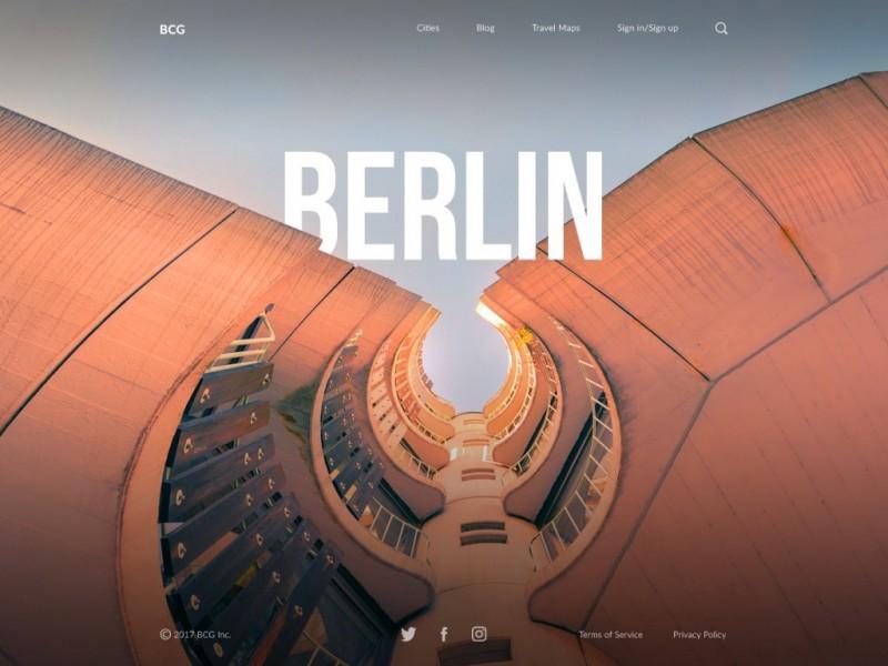 设计实战|城市指南网站着陆页是这样设计出来的