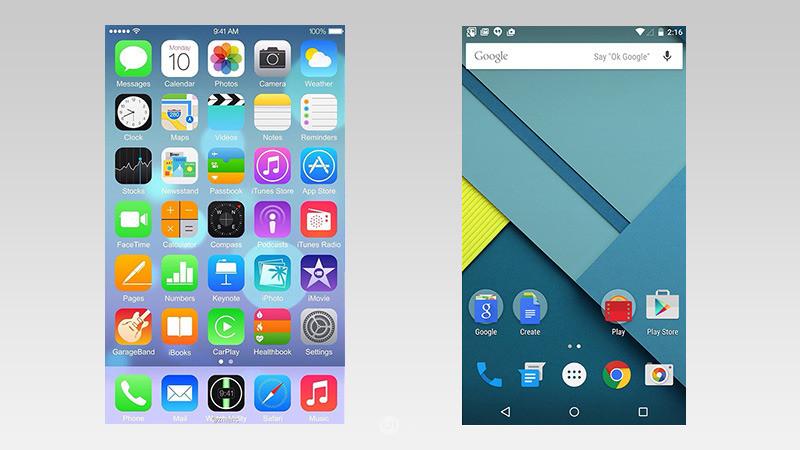 iOS和Android设计理念的演变